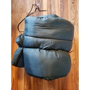 Vintage Sleeping bag Coleman Camping Adult zip up